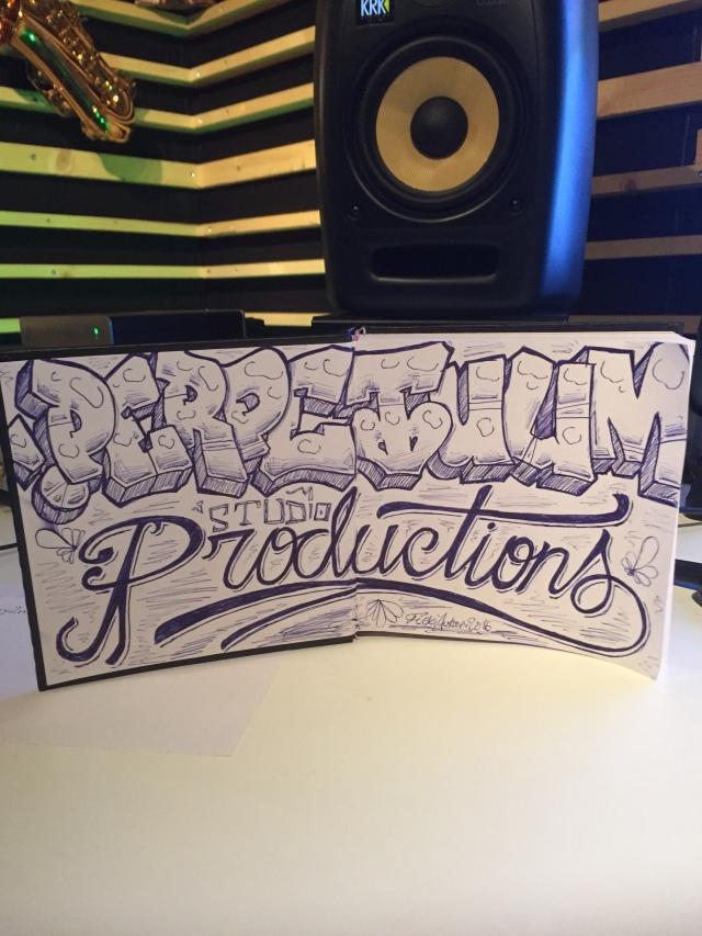 Artwork in the studio. S/O Flexi Aukan